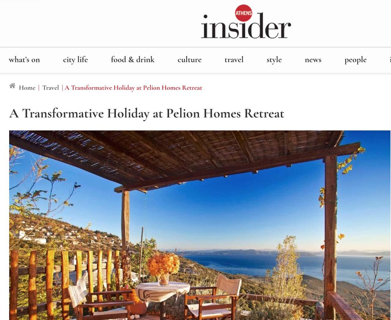 Athens Insider Pelion Homes