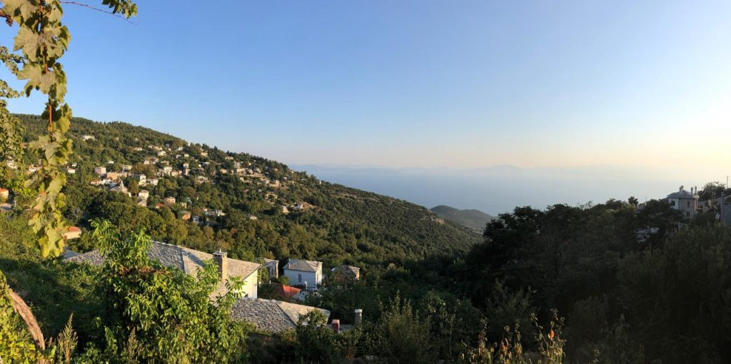 View from Pelion Homes overlooking the bay