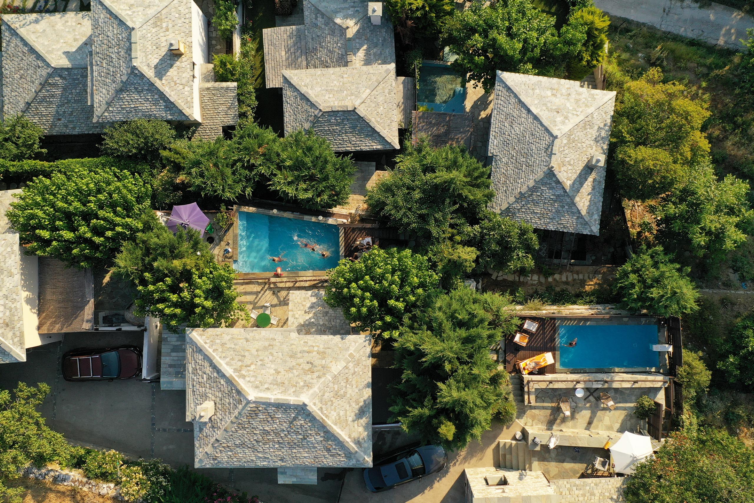 Pelion Homes drone villas