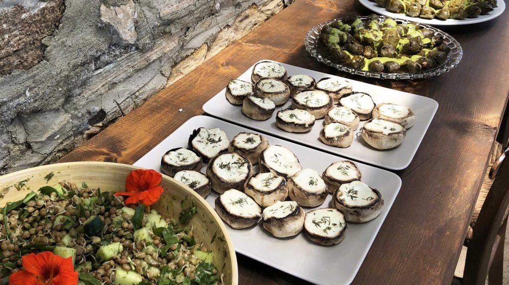 Pelion Homes retreat food