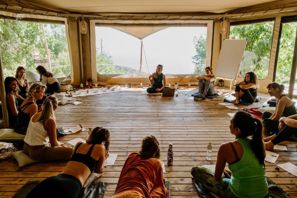 Ayurveda workshop inside shala