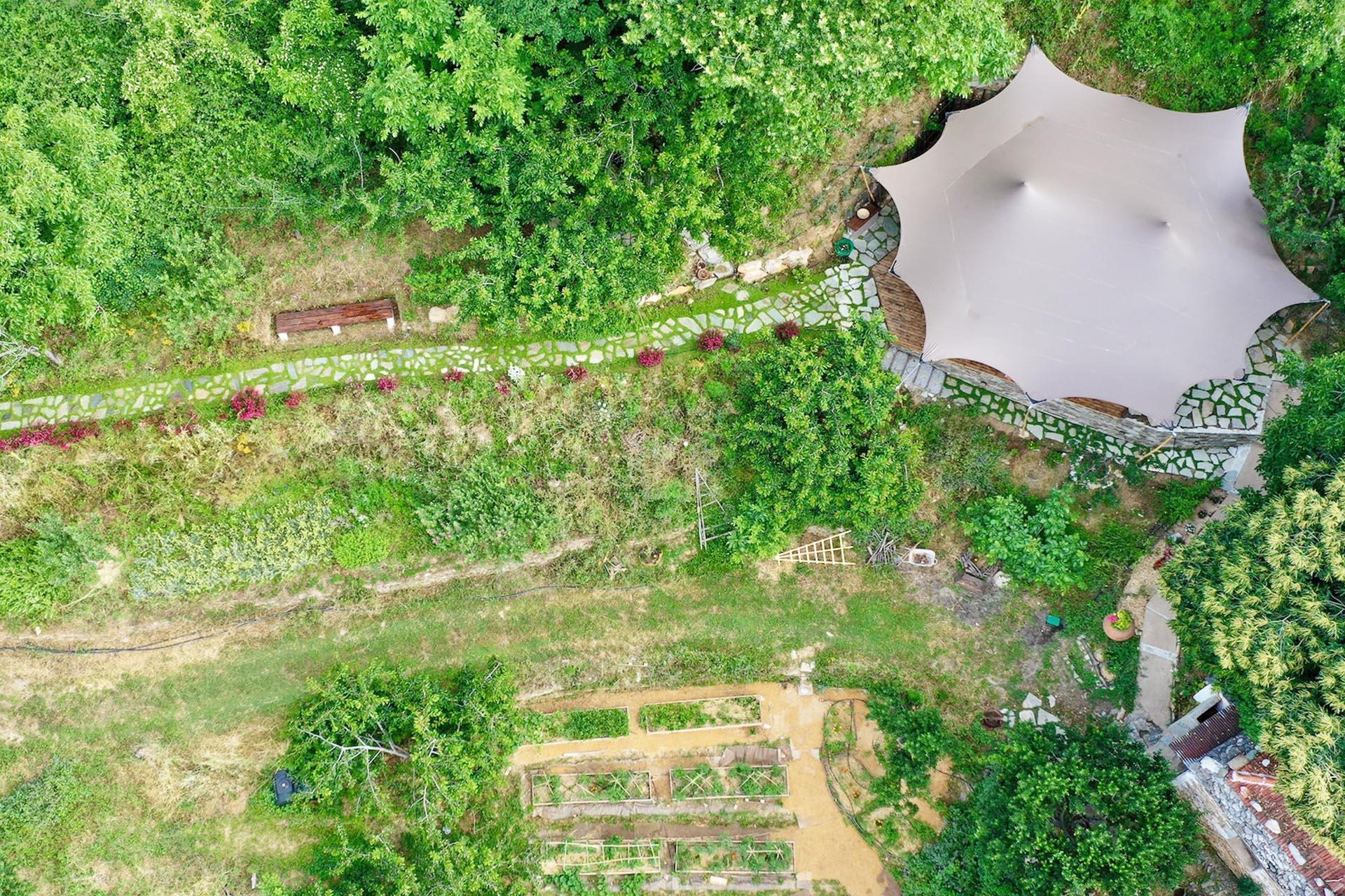Pelion Retreat Centre drone shot