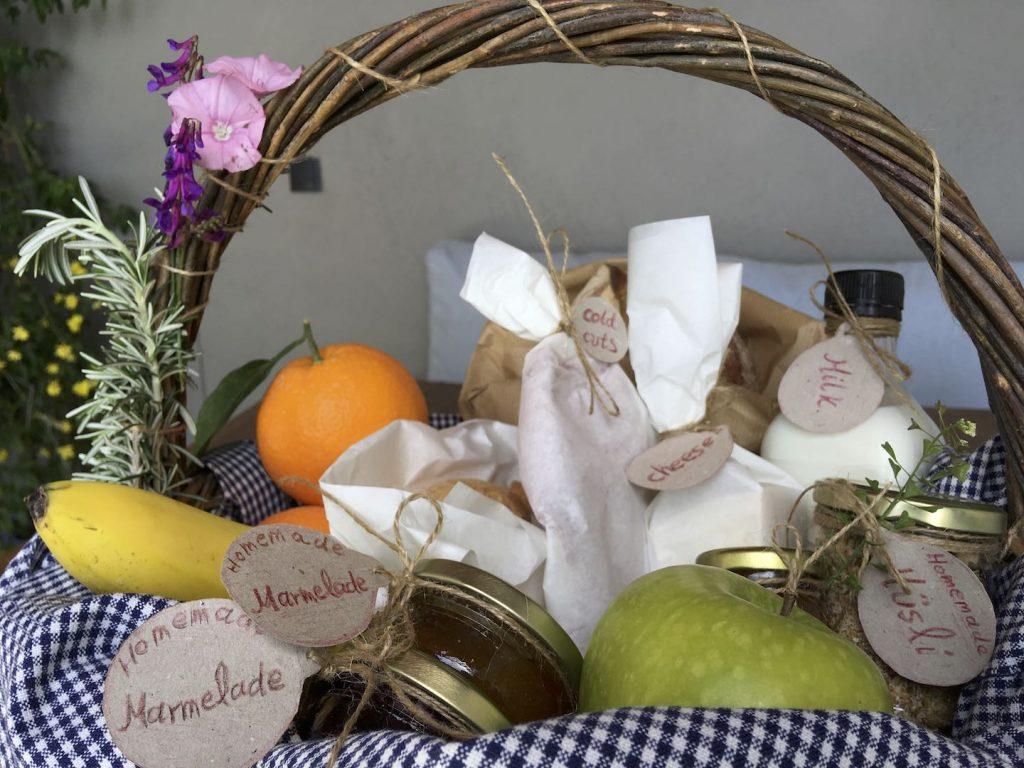 Breakfast Basket at Pelion Homes
