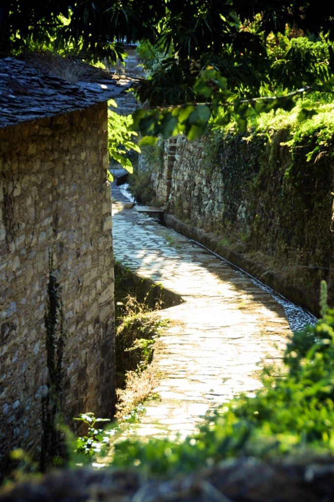 Tsagarada stone path in Pelion