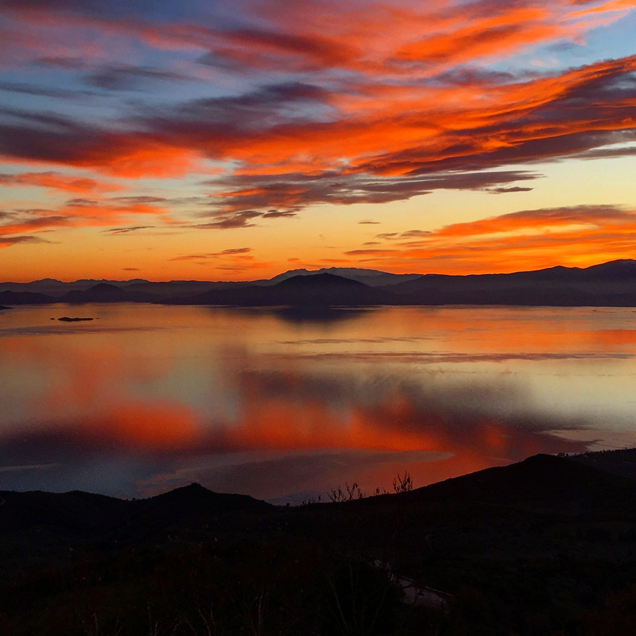 Sunset from Villa Selini Pelion Homes
