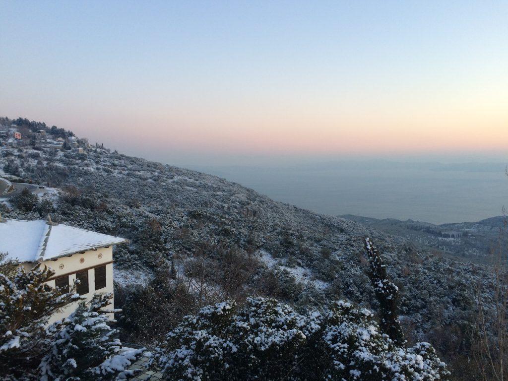Winter snow in Pelion at Pelion Homes
