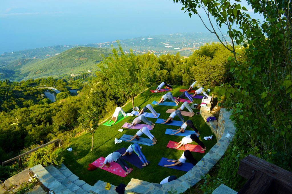 Pelion Homes Villa Selini yoga retreat